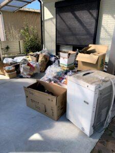 吉田町のお客様、洗濯機、その他混じりゴミを回収させて頂きました。