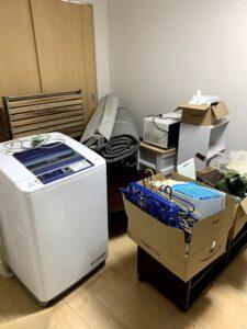 御前崎のお客様、洗濯機、トースター、オーディオラック、じゅうたん、収納ラック、その他不用品を回収させて頂きました。
